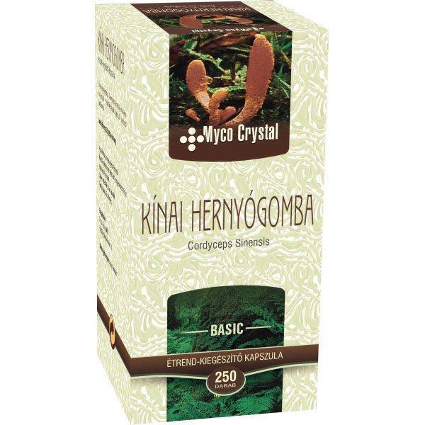 Myco Crystal Kínai hernyógomba - Cordyceps kapszula - 250 db