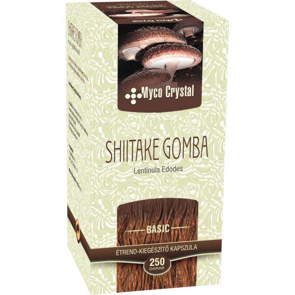 Myco Crystal Shiitake gyógygomba – 250 db kapszula