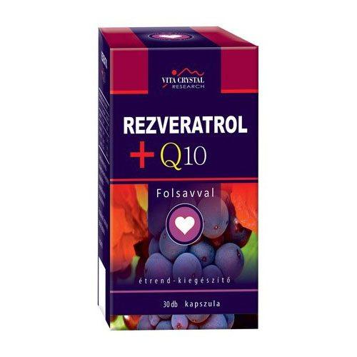 Vita Crystal Rezveratrol + Q10 + folsav kapszula – 30db