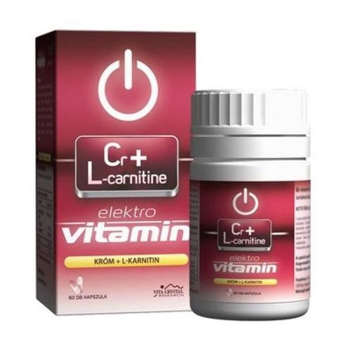 Vita Crystal E-lit Vitamin – Króm + L-carnitine kapszula – 60db