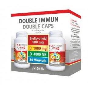 Vita Crystal Flavitamin Double Immun C+D vitamin kapszula - 2x120db