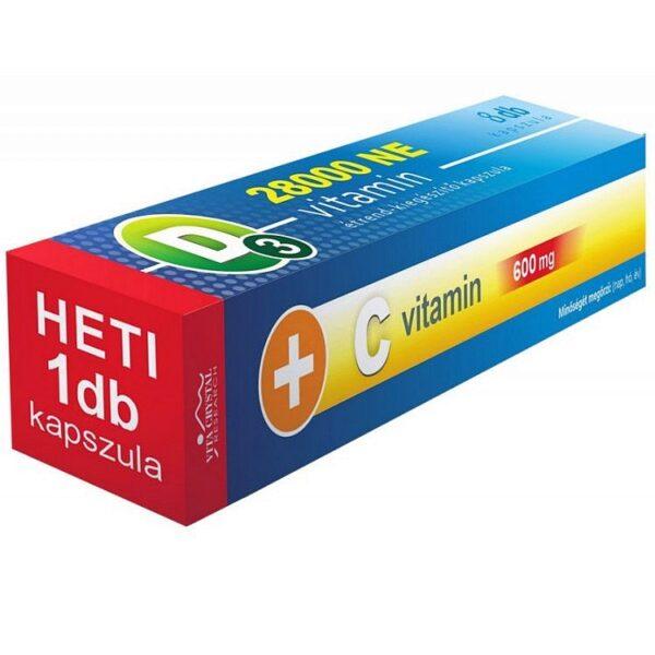 Vita Crystal D3-vitamin 28000NE + C-vitamin kapszula - 8db