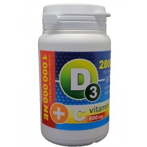 Vita Crystal D3-vitamin 28000NE + C-vitamin kapszula - 36db